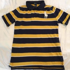 Yellow and Blue Striped Polo by Ralph Lauren